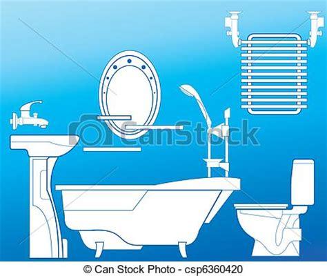 badezimmer clipart vektor clipart badezimmer in blaues badezimmer