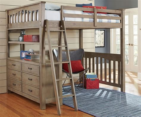kenwood full size loft  driftwood kids furniture
