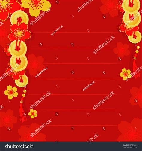 chinese new year template stock vector 125023301