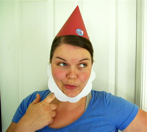 How To Make A Paper Beard - make a paper gnome hat plus beard i inspire d