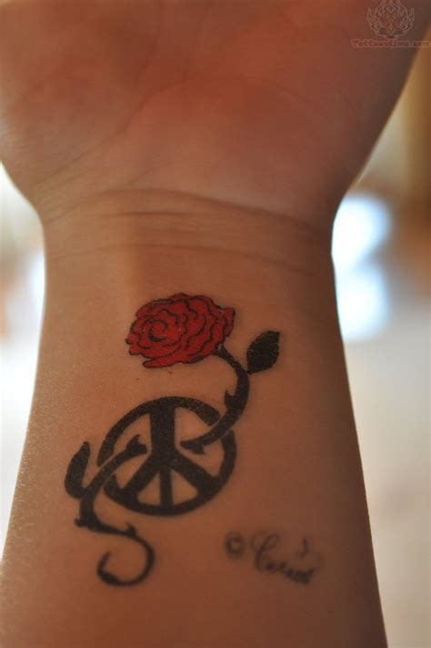 cute rose tattoo 1990tattoos tattoos on wrist
