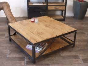 Lovely Table Basse Industrielle La Redoute #4: Meubles-et-rangements-table-basse-carre-industrielle-boi-1722441-table-basse-boietal-46539_big.jpg