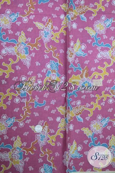 Kain Batik Pink kain batik pink dengan motif bunga cewek banget batik