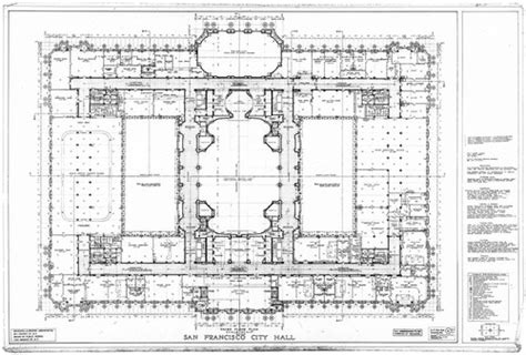 San Francisco City Hall Floor Plan | calisphere third floor plan san francisco city hall