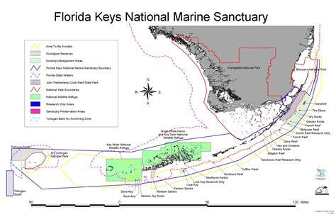 florida marine map florida national marine sanctuary map mappery