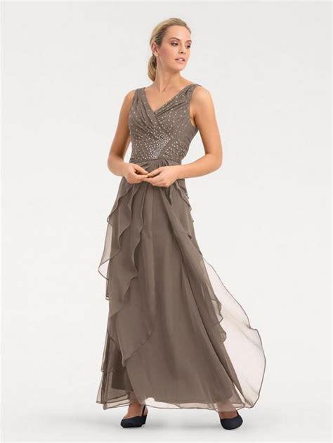 hochzeitskleid heine heine timeless abendkleid mit plisseefalten helltaupe im
