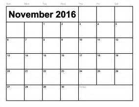 Template For Calendar by November 2016 Printable Calendar Printable Calendar