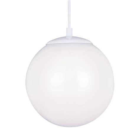 sea gull lighting hanging globe 1 light white pendant