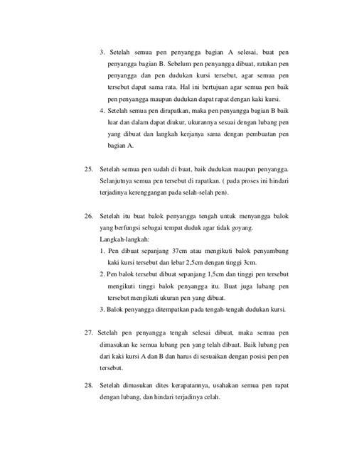 laporan praktikum membuat sabun kerja kayu perancah laporan praktikum membuat bangku taman
