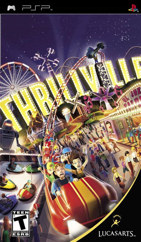 theme park psp thrillville psp game