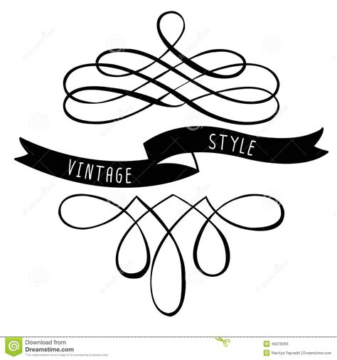 calligraphy ribbon banner labels printables pinterest calligraphy design elements banners and ribbons stock