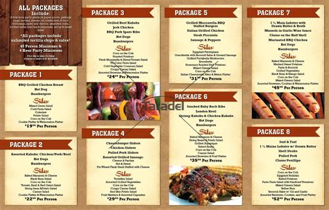 bar and grill menu templates 3 best images of bbq restaurant design ideas bbq