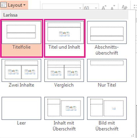 powerpoint layout einer folie ändern titel einer folie powerpoint