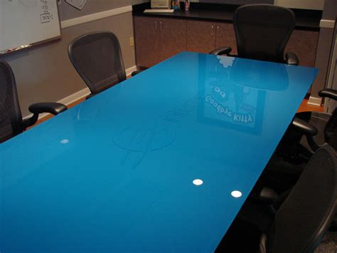 blue glass table l anyone with experience with painting glass