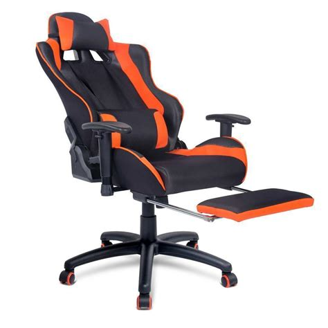 Orange Gaming Chair by Ultimate Gaming Chair Orange With Footrest