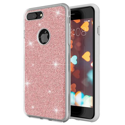 for iphone 8 plus for iphone 7 plus glitter sparkle bling three layer supports