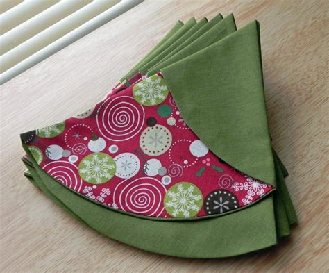 christmas tree table napkins pattern christmas table decoration napkins handspire