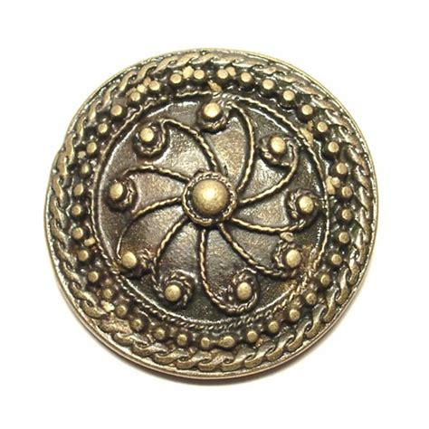 decorative rivet antique brass coloured finish 3