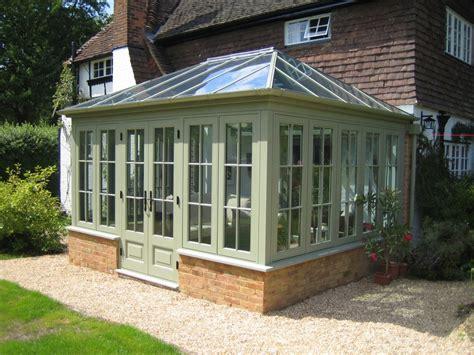 conservatory of wooden timber oak conservatories in warwickshire near birmingham west midlands uk