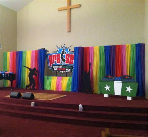 rainbow kids church stage design ideas