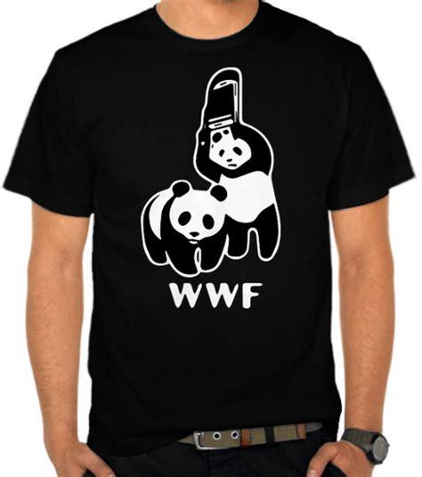 Kaos Distro Bandung Sgo Panda jual kaos wwf world wide foundation parodi panda