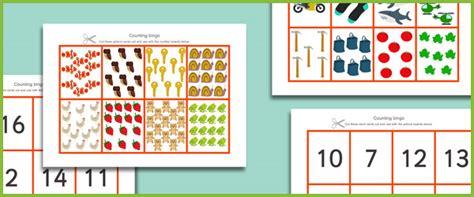 printable numbers early years countingo bingo free early years primary teaching
