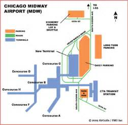 Chicago Midway Airport Map by Midway Airport Chicago Map