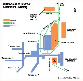 chicago midway map ohare airport map