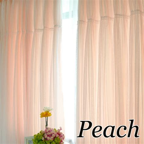 peach kitchen curtains ruffle curtain