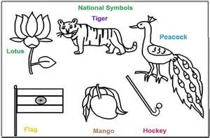 National Bird Of India Outline national symbols of india coloring printable pages holi festival of colors india