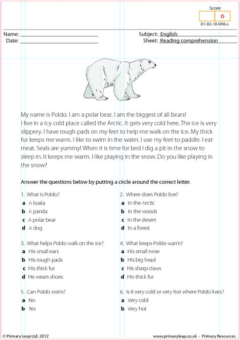 Reading Comprehension Worksheets 3rd Grade Choice by Search Results For Polar Bears Worksheet Calendar 2015
