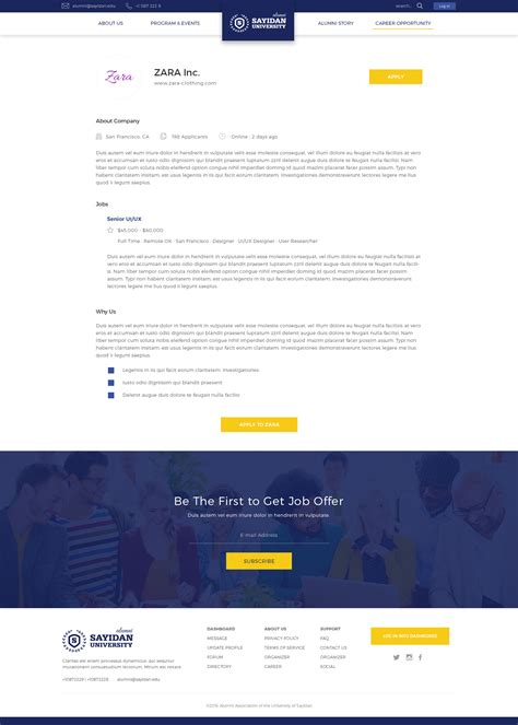 Sayidan University Alumni Psd Template By Peterdraw Themeforest Alumni Database Template