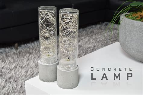concrete diy diy concrete l led string lights youtube