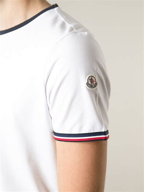 Tshirt Kaos 1 lyst moncler classic t shirt in white for