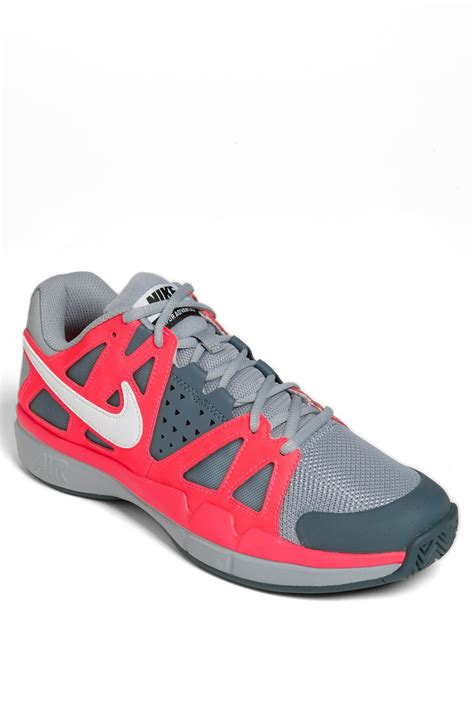nike air vapor advantage tennis shoe in gray for grey