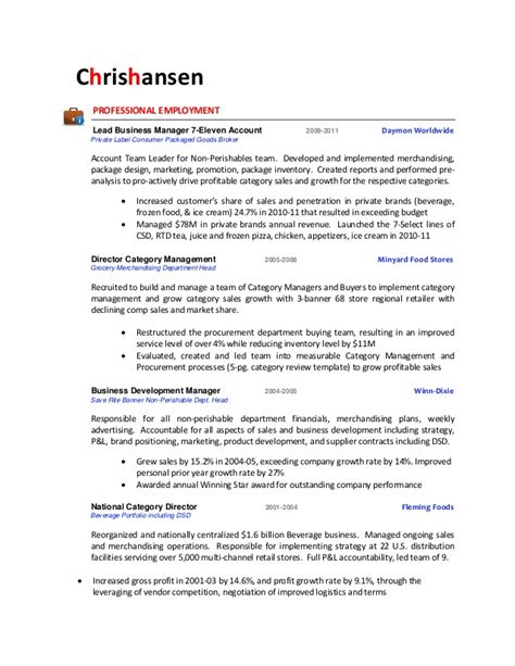 Resume 7 Eleven by Chris Hansen Resume