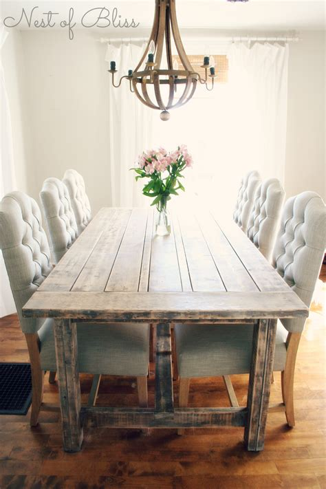 Farmhouse Dining Table And Chairs by Selecting The Right Dining Chairs Nest Of Bliss