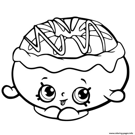shopkins donut coloring page chrissy cream from shopkins season 6 chef club coloring