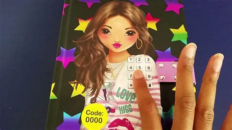 top model secret diary with code and
