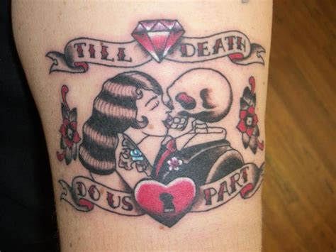 till death tattoo till do us part on bicep tattooshunt