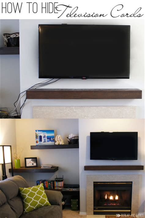 how to hide l cords remodelaholic 95 ways to hide or decorate around the tv