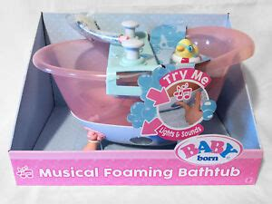 baby born musical foaming bathtub lights sounds real working shower   ebay