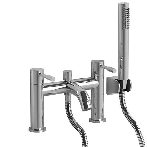 Bathroom Taps With Shower Attachment Gx52 Bath Filler Tap Modern Chrome Plated Brass With Shower Attachment Bathroom Ebay