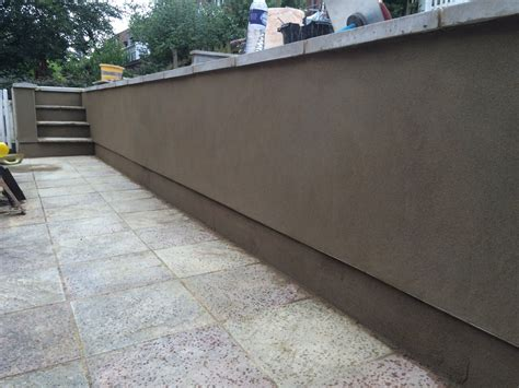 Rendering To Retaining Garden Walls A Merson Plastering Rendering A Garden Wall