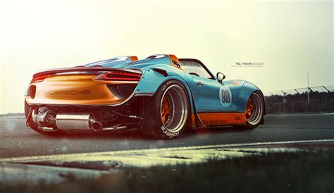 widebody porsche 918 porsche 918 gone wild on behance