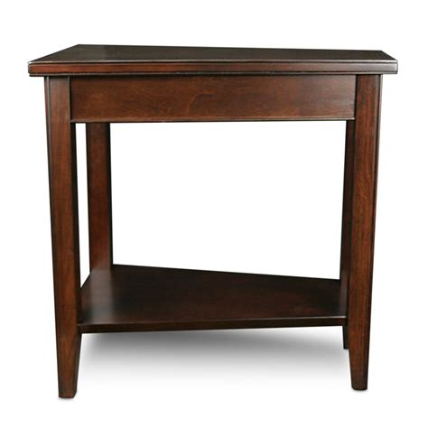 Triangle Side Table Leick Laurent Recliner Triangle End Table Triangle Table Cherry