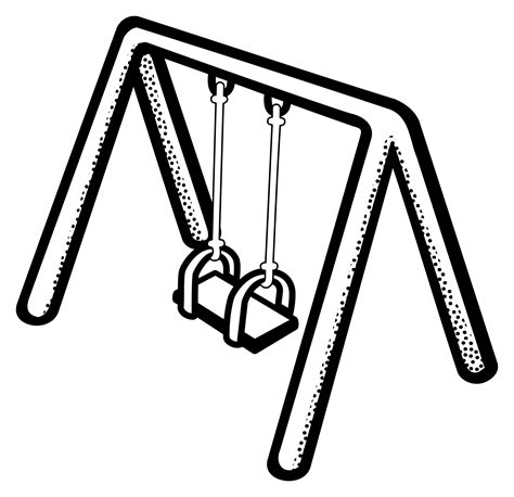 black swing black white clipart swing pencil and in color black