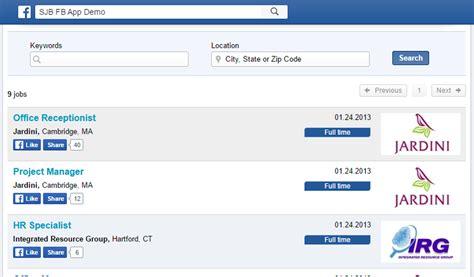 fb jobs facebook recruitment app smartjobboard