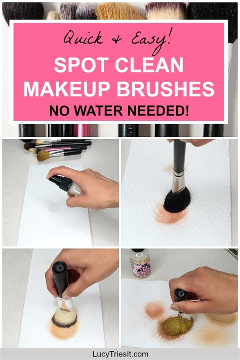 quick easy way to spot clean makeup brushes no water