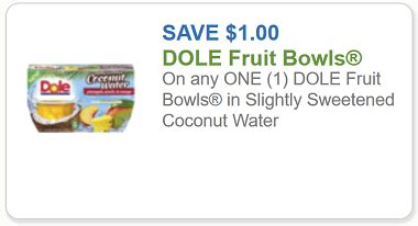 dole fruit bowls printable coupons